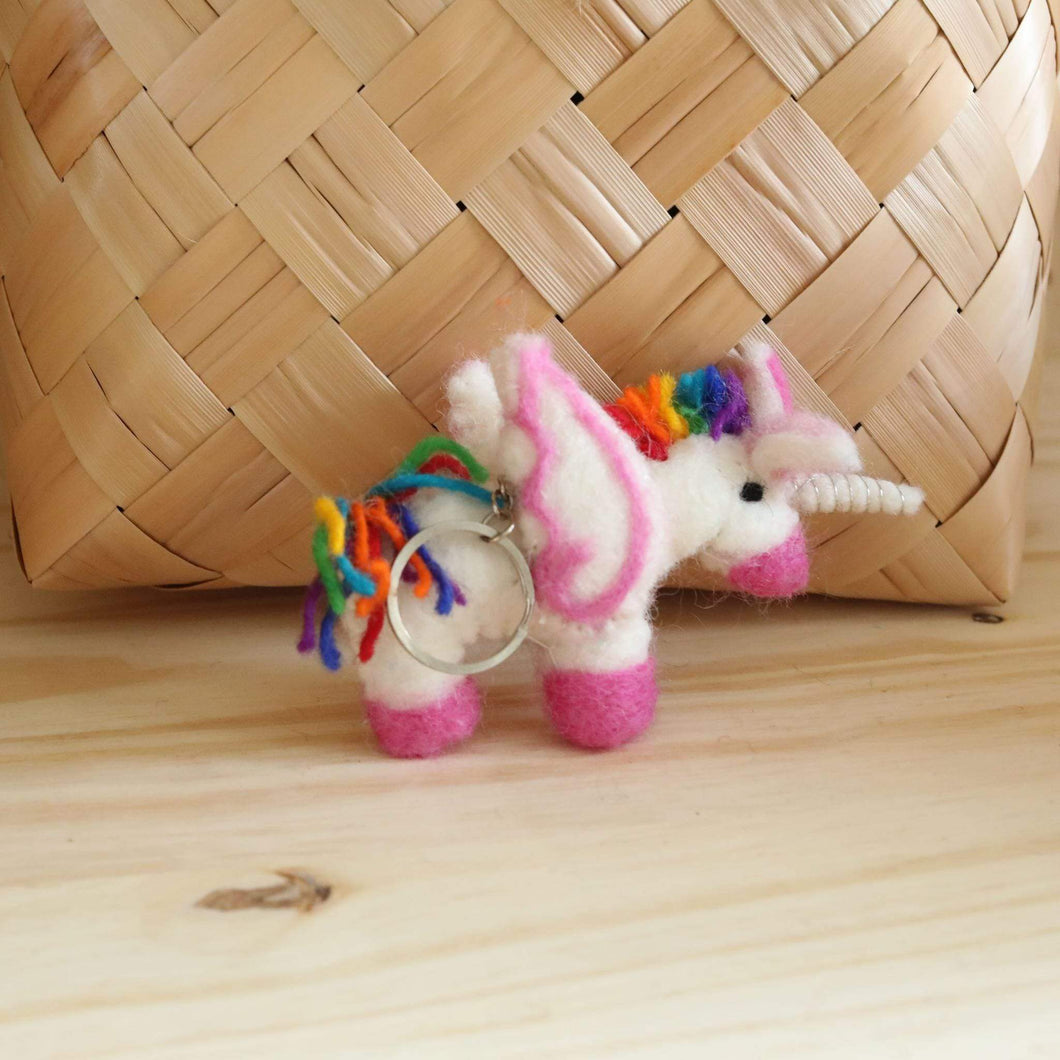 Felt Unicorn Keyring Premium Quality Unique Handmade Gifts And Accessories - Ganapati Crafts Co