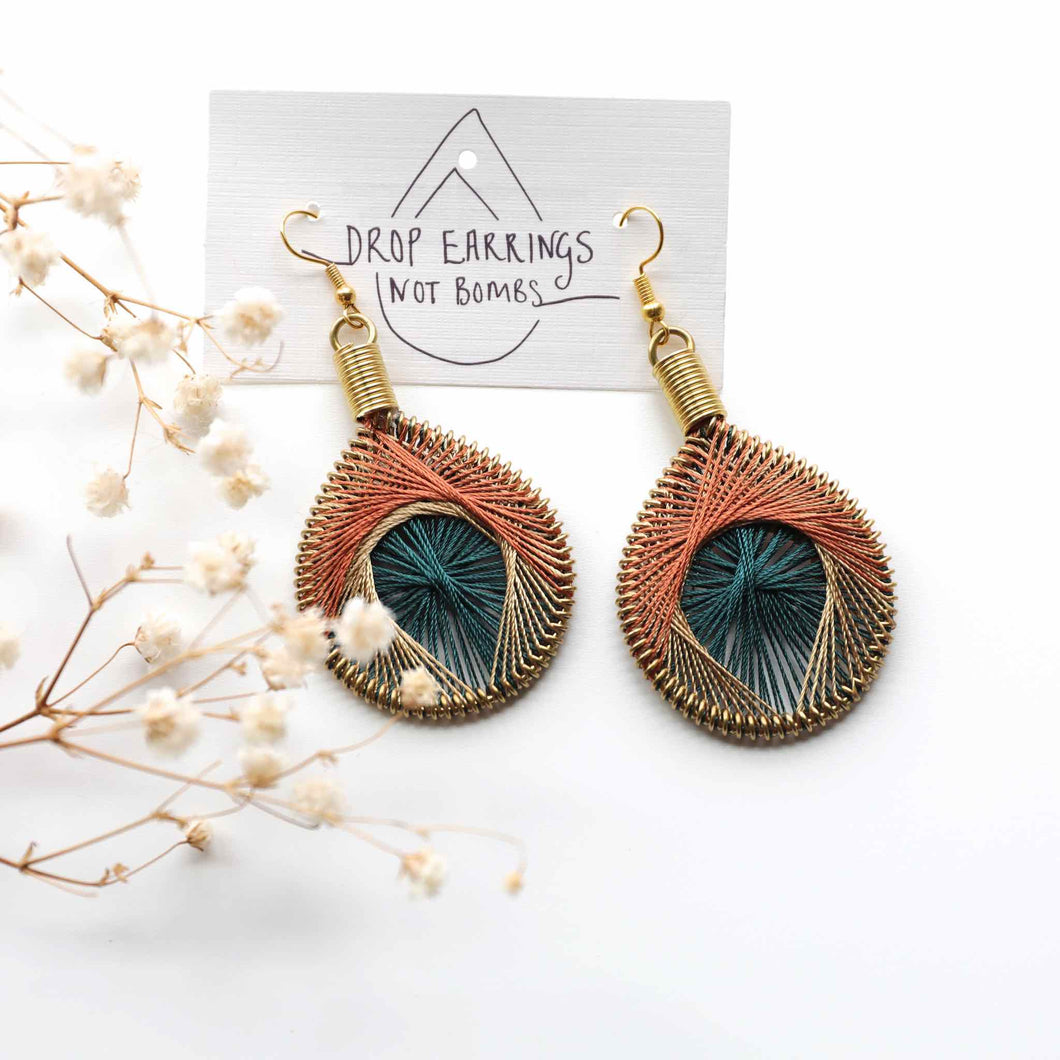 Flourish - Syrian Drop Earrings Not Bombs Premium Quality Unique Handmade Gifts And Accessories - Ganapati Crafts Co