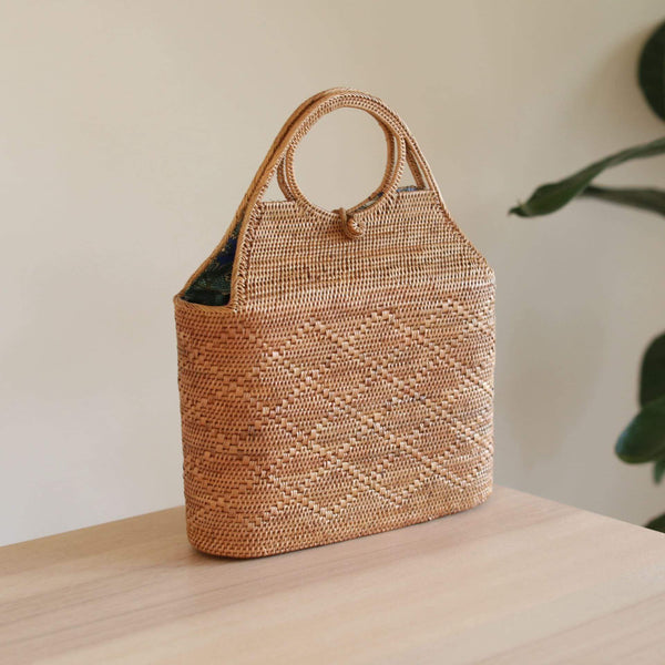 Large Malboro Rattan Clutch Premium Quality Unique Handmade Gifts And Accessories - Ganapati Crafts Co