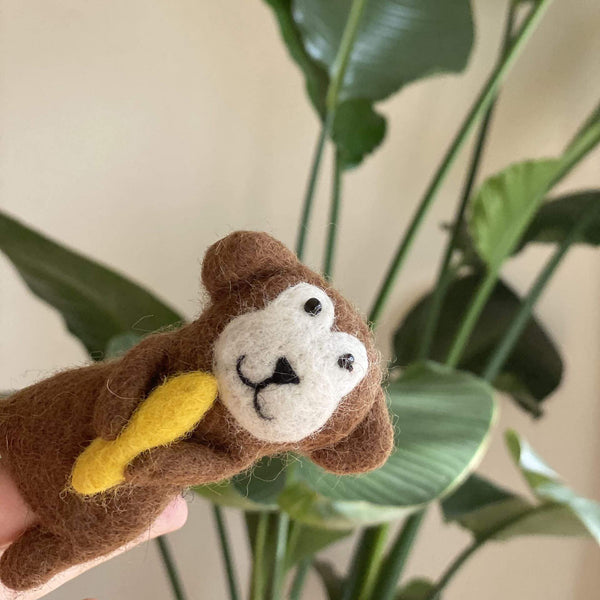 Monkey Finger Puppet Premium Quality Unique Handmade Gifts And Accessories - Ganapati Crafts Co