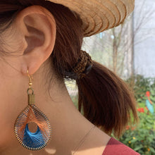 Load image into Gallery viewer, Neha - Syrian Drop Earrings Not Bombs Premium Quality Unique Handmade Gifts And Accessories - Ganapati Crafts Co