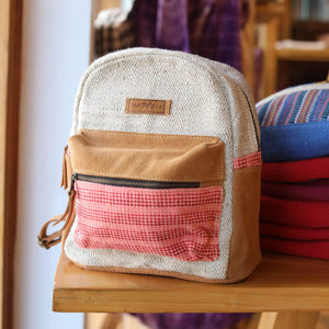 Pink Mini Backpack Premium Quality Unique Handmade Gifts And Accessories - Ganapati Crafts Co