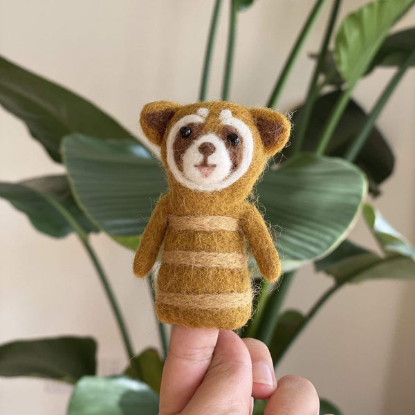 Racoon Finger Puppet Premium Quality Unique Handmade Gifts And Accessories - Ganapati Crafts Co