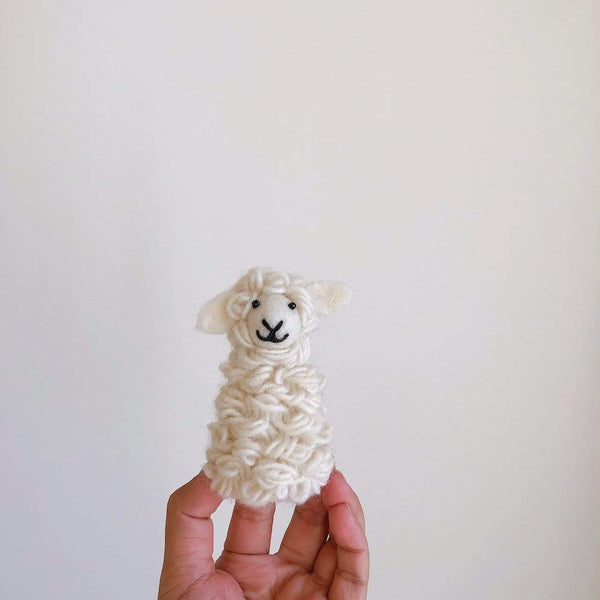 Sheep wool felt finger puppet Premium Quality Unique Handmade Gifts And Accessories - Ganapati Crafts Co