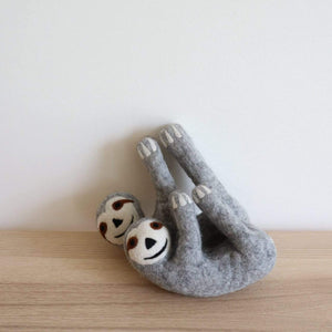 Sloth Felted Toy Premium Quality Unique Handmade Gifts And Accessories - Ganapati Crafts Co
