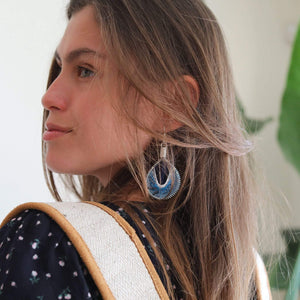 The Earth - Syrian Drop Earrings Not Bombs Premium Quality Unique Handmade Gifts And Accessories - Ganapati Crafts Co