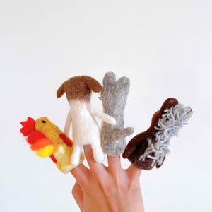Town Musicians of Bremen Finger Puppet Set Premium Quality Unique Handmade Gifts And Accessories - Ganapati Crafts Co