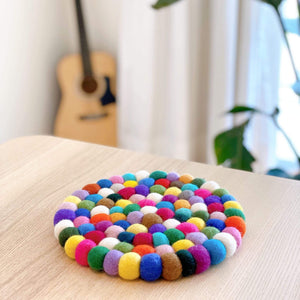 Wool felt circle trivet Premium Quality Unique Handmade Gifts And Accessories - Ganapati Crafts Co