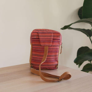 WOVEN Chest Crossbody Bag - Red Premium Quality Unique Handmade Gifts And Accessories - Ganapati Crafts Co