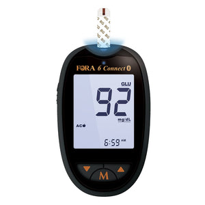 Diabetes-All-in-1 SET: FORA Connect + BG + 1-in-3 + KB
