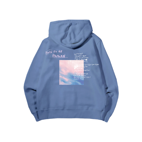 How To Be Human Blue Hoodie