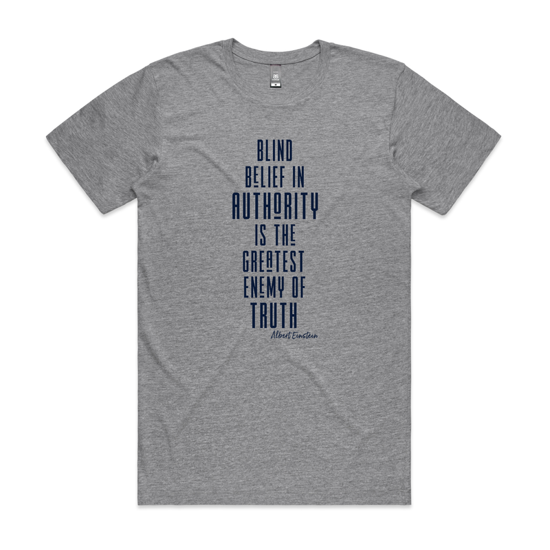 "Albert Einsteins ""Blind Belief"" T-Shirt"