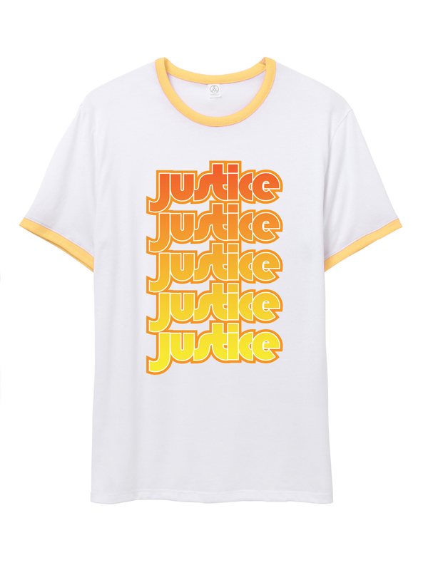 1960's JUSTICE Ringer T Shirt
