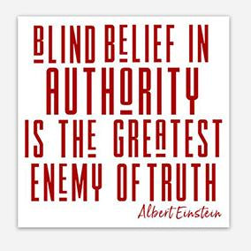 Blind Belief in Authority Sticker
