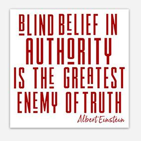Blind Belief in Authority Sticker - Social Justice Social Club
