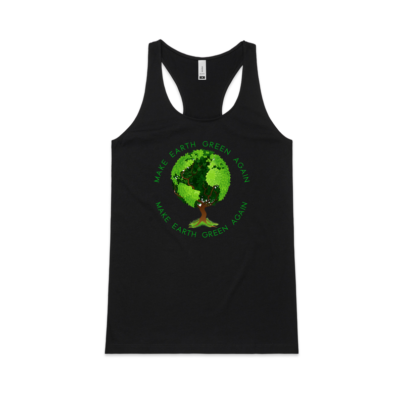 Make Earth Green Again Racerback Tank  - Social Justice Social Club