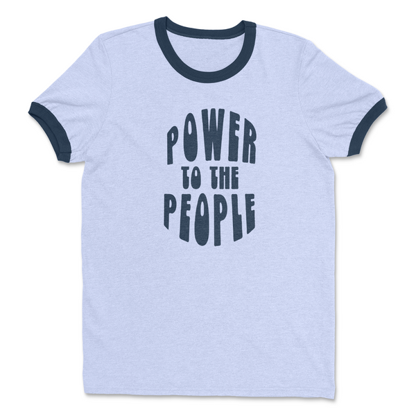 POWER TO THE PEOPLE Retro Ringer T Shirt - Social Justice Social Club