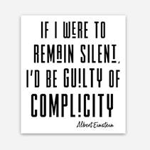 If I Were To Remain Silent Sticker - Social Justice Social Club