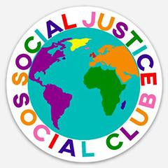 Social Justice Social Club Colorful World Sticker