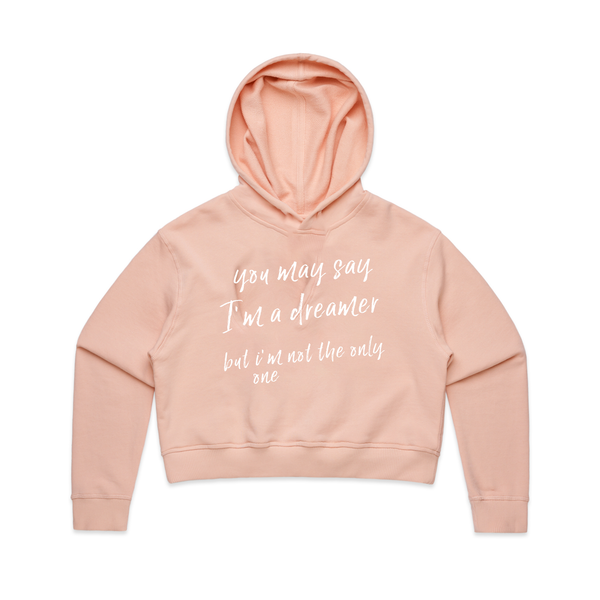 You May Say I'm a Dreamer Crop Hoodie - Social Justice Social Club