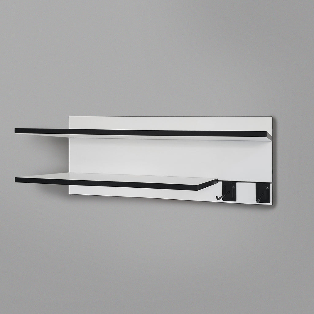 800mm Backpanel 2 lines with 1x800mm shelf +1x600mm shelf + 2 prongs