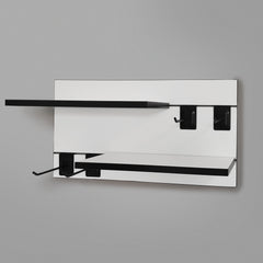 800mm Backpanel 2 lines with 2 x 600mm shelves & 4 prongs