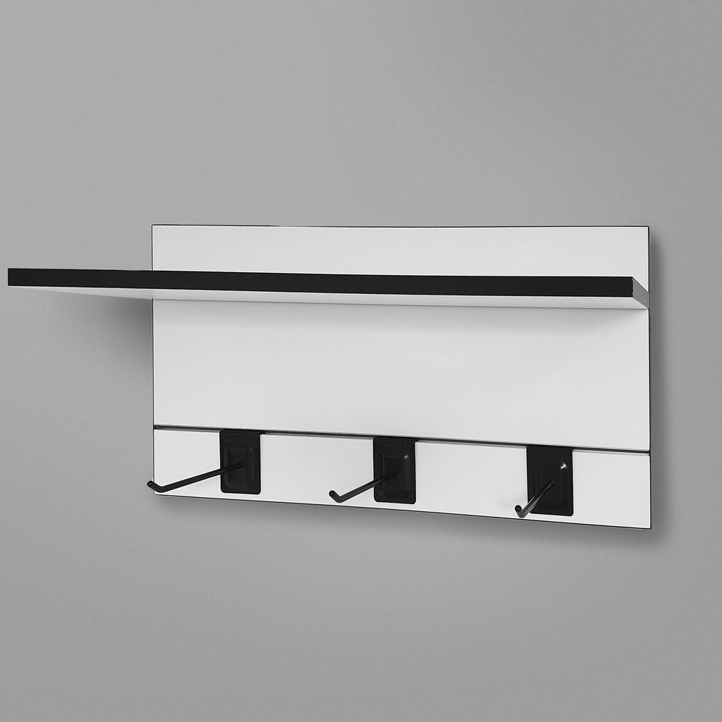 600mm Backpanel 2 lines with 1x 600mm Shelf & 3 Prongs