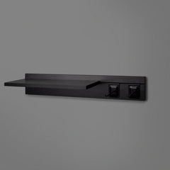 Black Adjustable Floating Shelving 600mm With Two Black Prongs