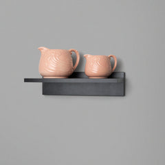 Black Floating Shelving 400mm Lifestyle