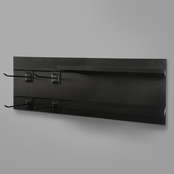 600mm Backpanel 2 lines with 2 400mm Shelves & 4 Prongs