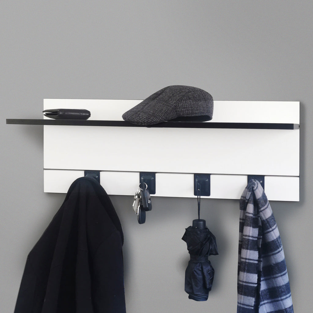 800mm Backpanel 2 lines with 2 x 400mm Shelves & 4 Hooks