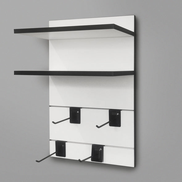 400mm Backpanel 4 line with 2 x 400mm shelves & 4 Prongs