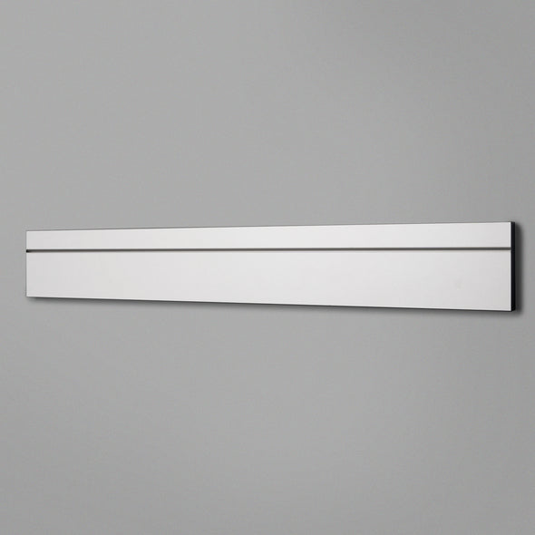 White Adjustable Floating Shelving 800mm Back Panel