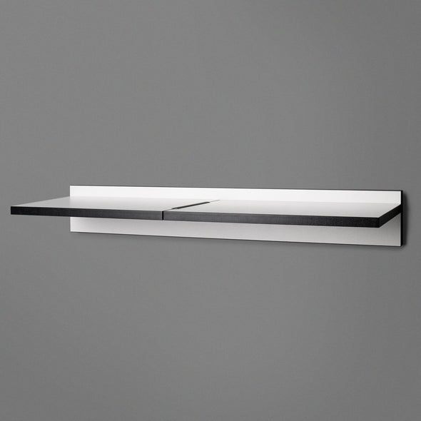 White Adjustable Floating Shelving 800mm