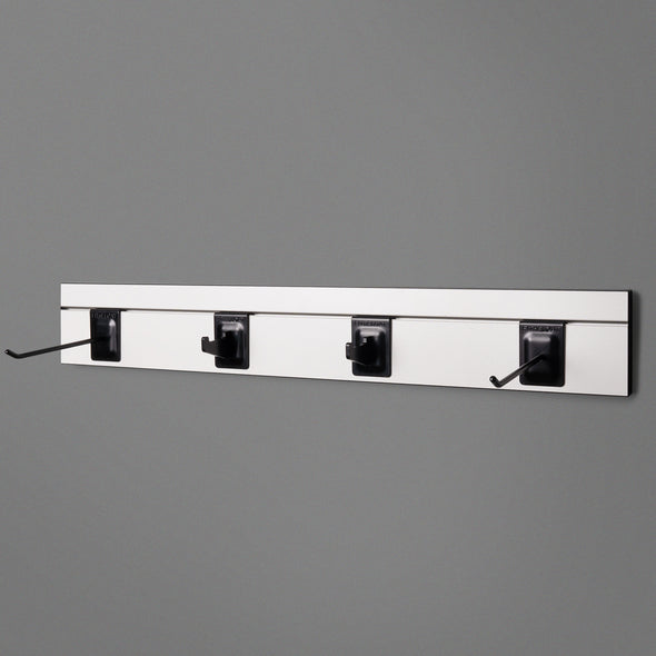 White Adjustable Floating Shelving 800mm With two prongs and 2 hooks