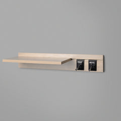 Woodgrain Adjustable Floating Shelving 600mm With Two Black Prongs