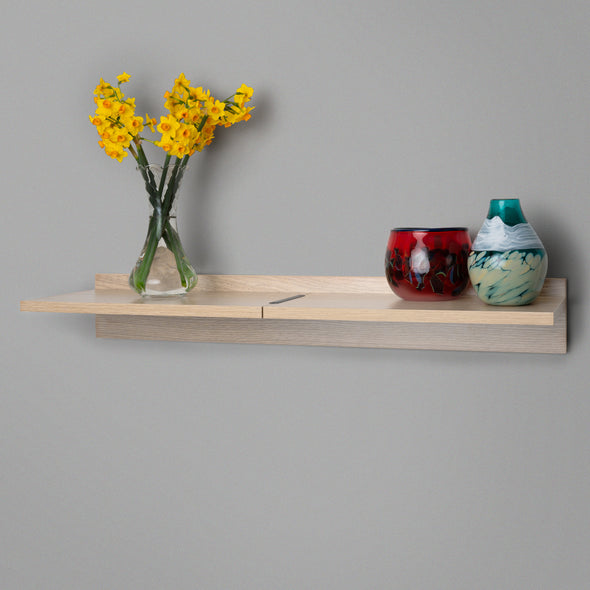 Wood Adjustable Floating Shelving 800mm Lifestyle