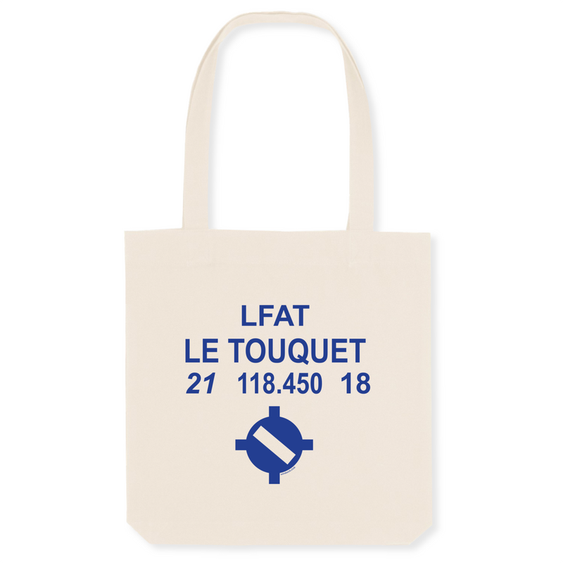 Tote bag coton bio | LFAT LE TOUQUET - windsock.club