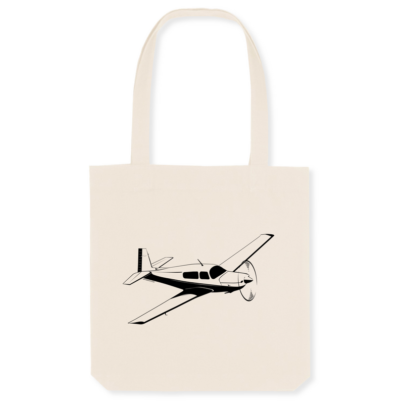Tote bag coton bio | Mooney M20 - windsock.club