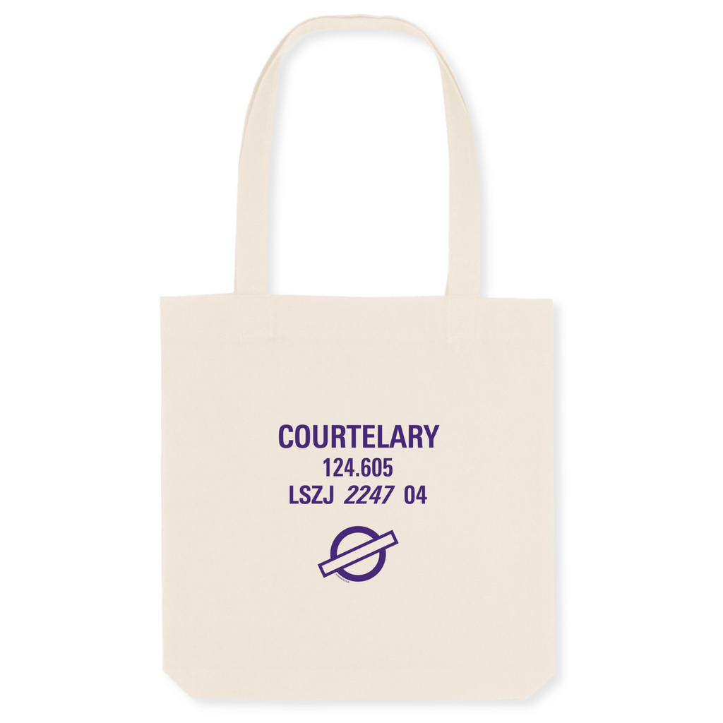 Tote bag coton bio | LSZJ COURTELARY - windsock.club