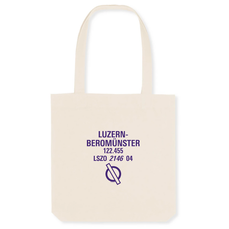 Tote bag coton bio | LSZO LUZERN - BEROMÜNSTER - windsock.club