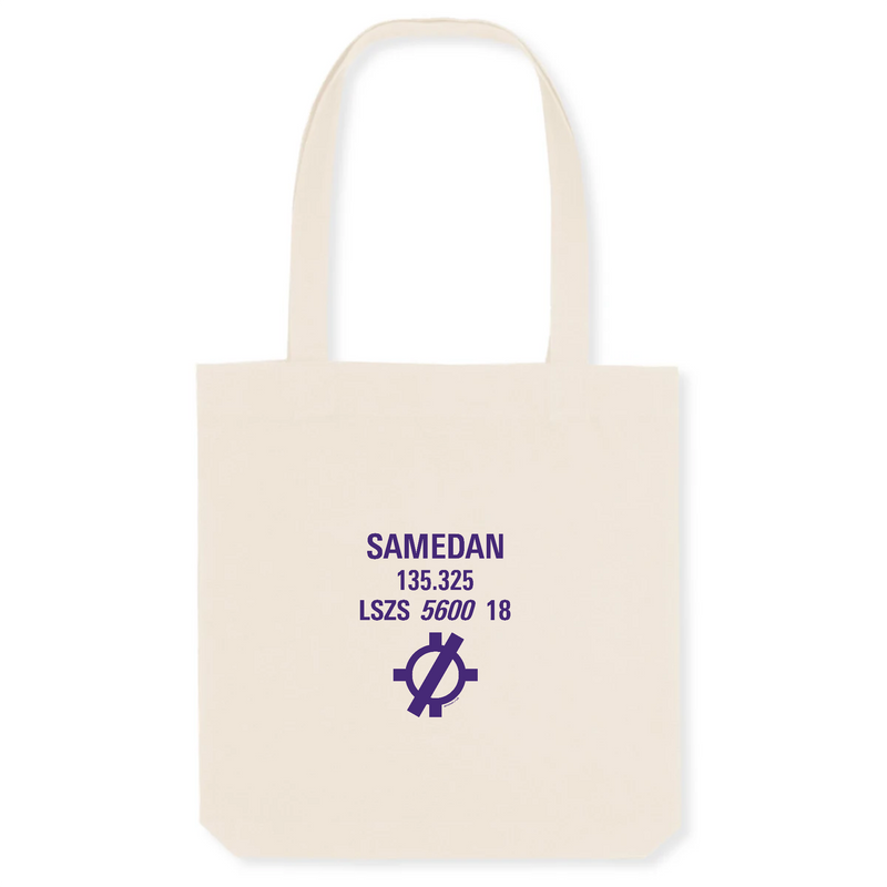 Tote bag coton bio | LSZS SAMEDAN - windsock.club
