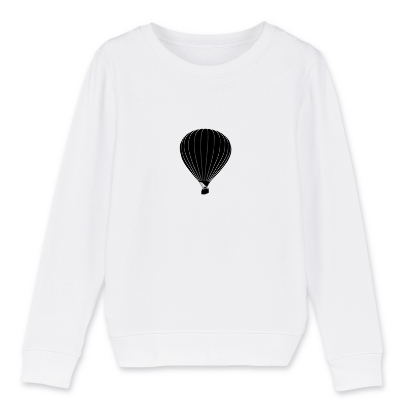 Sweat enfant bio | Montgolfière - windsock.club