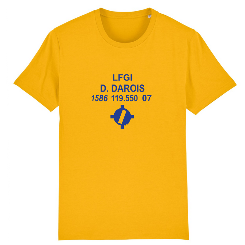 T-shirt homme 100% bio | LFGI D. DAROIS - windsock.club