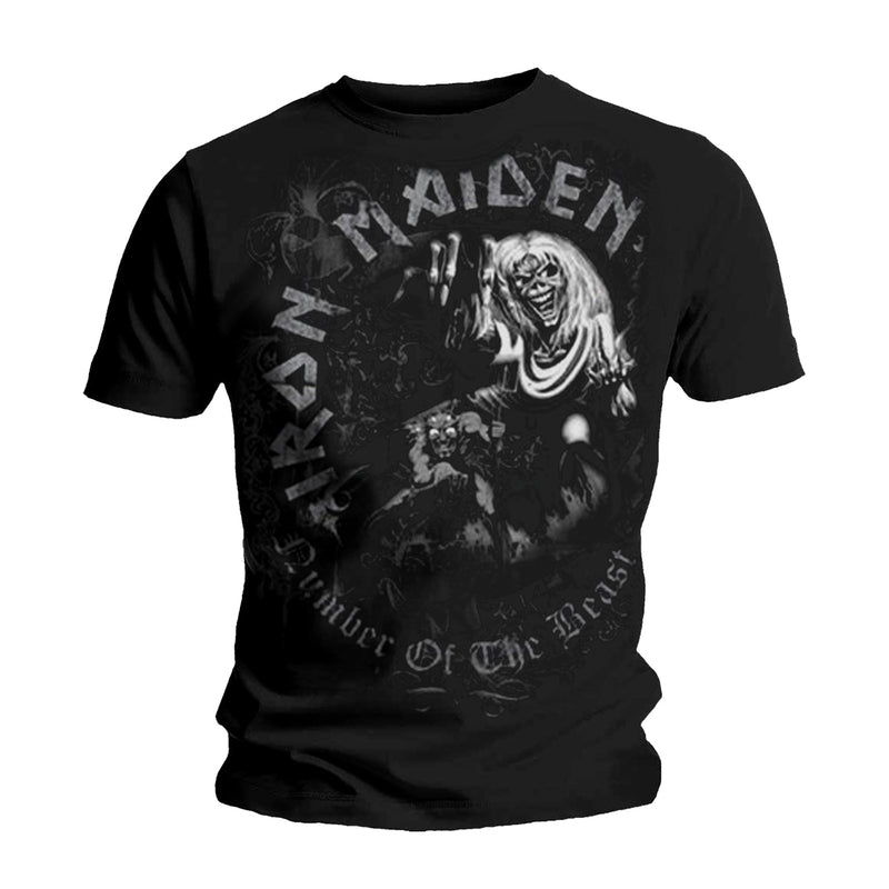 IRON MAIDEN NUMBER OF THE BEAST GREYTONE T-SHIRT