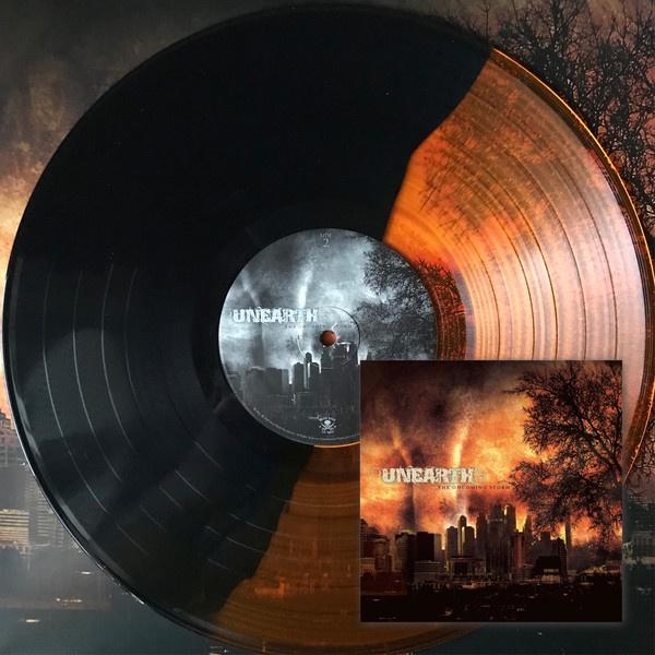 UNEARTH 'ONCOMING STORM' GOLD AND BLACK SPLIT LP