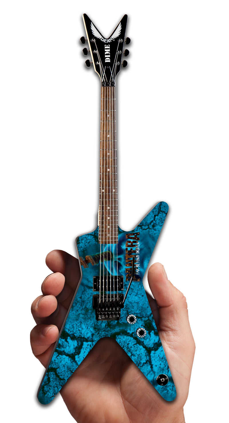 DEAN DIMEBAG PANTERA GRAPHIC ML MINI GUITAR MODEL - DIME OFFICIAL LOGO ON BACK OF HEADSTOCK – FAR BEYOND DRIVEN – 333 MADE