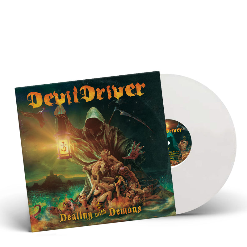 DEVILDRIVER - 'DEALING WITH DEMONS PART I' LIMITED-EDITION WHITE VINYL— ONLY 200 MADE
