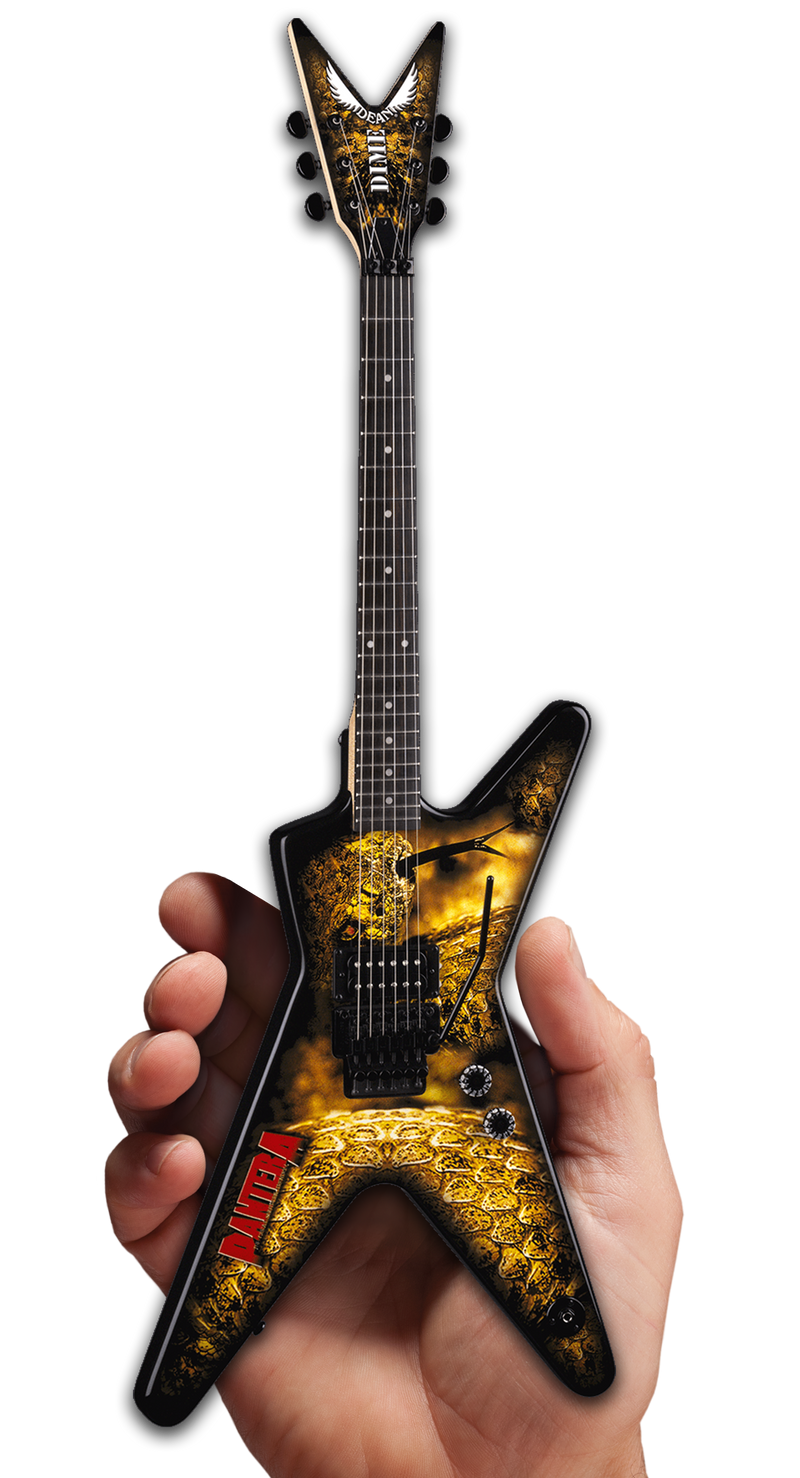 DEAN DIMEBAG PANTERA GRAPHIC ML MINI GUITAR MODEL - DIME OFFICIAL LOGO ON BACK OF HEADSTOCK – THE GREAT SOUTHERN TRENDKILL – 333 MADE