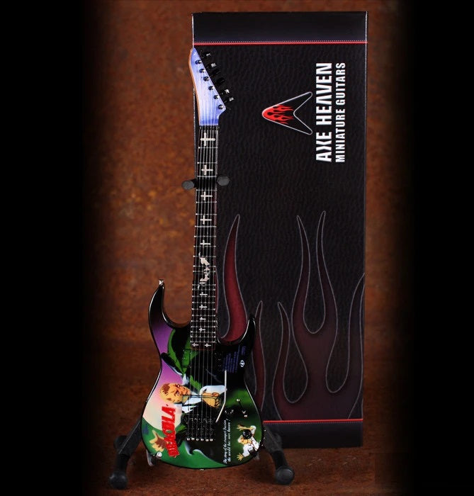 "KIRK HAMMETT SIGNATURE ""DRACULA"" MINIATURE GUITAR REPLICA COLLECTIBLE"